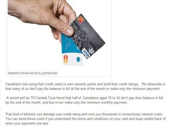 TD Canada Credit Card