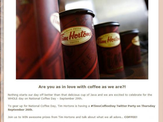 Tim's Coffee Day Twitter Party