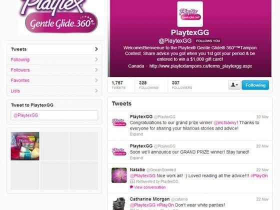 Playtex Gentle Glide Twitter