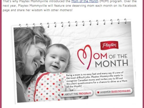 Mom of The Month Playtex