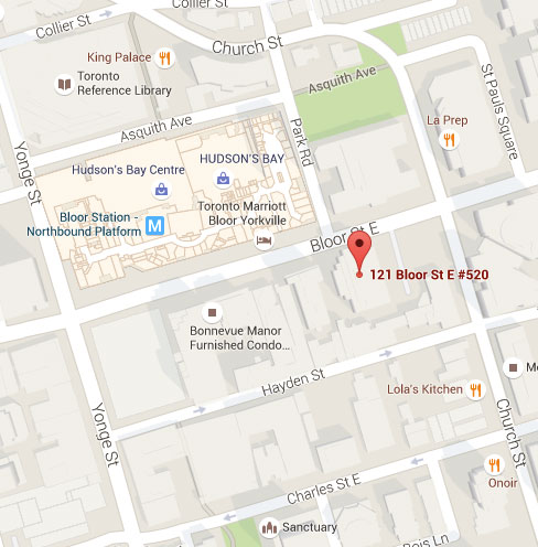 Paradigm PR Firm Toronto Map