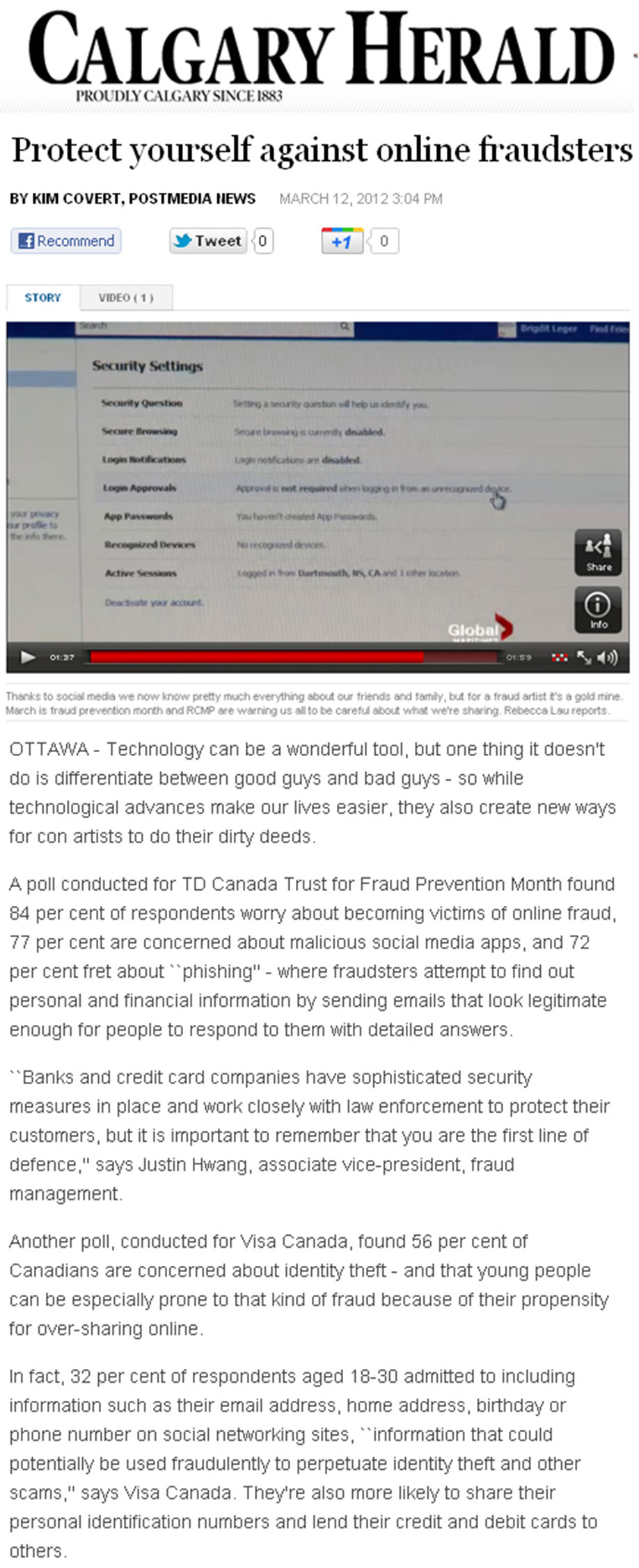 TD Canada Trust Fraud Prevention