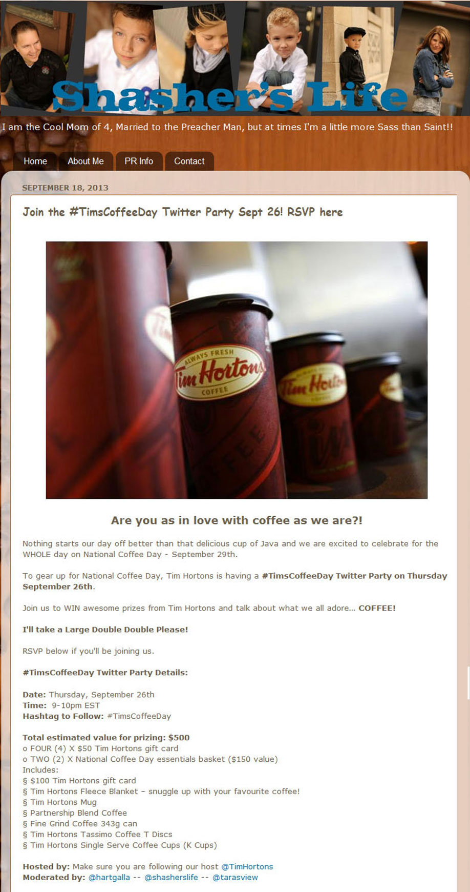 Tim Hortons National Coffee Day