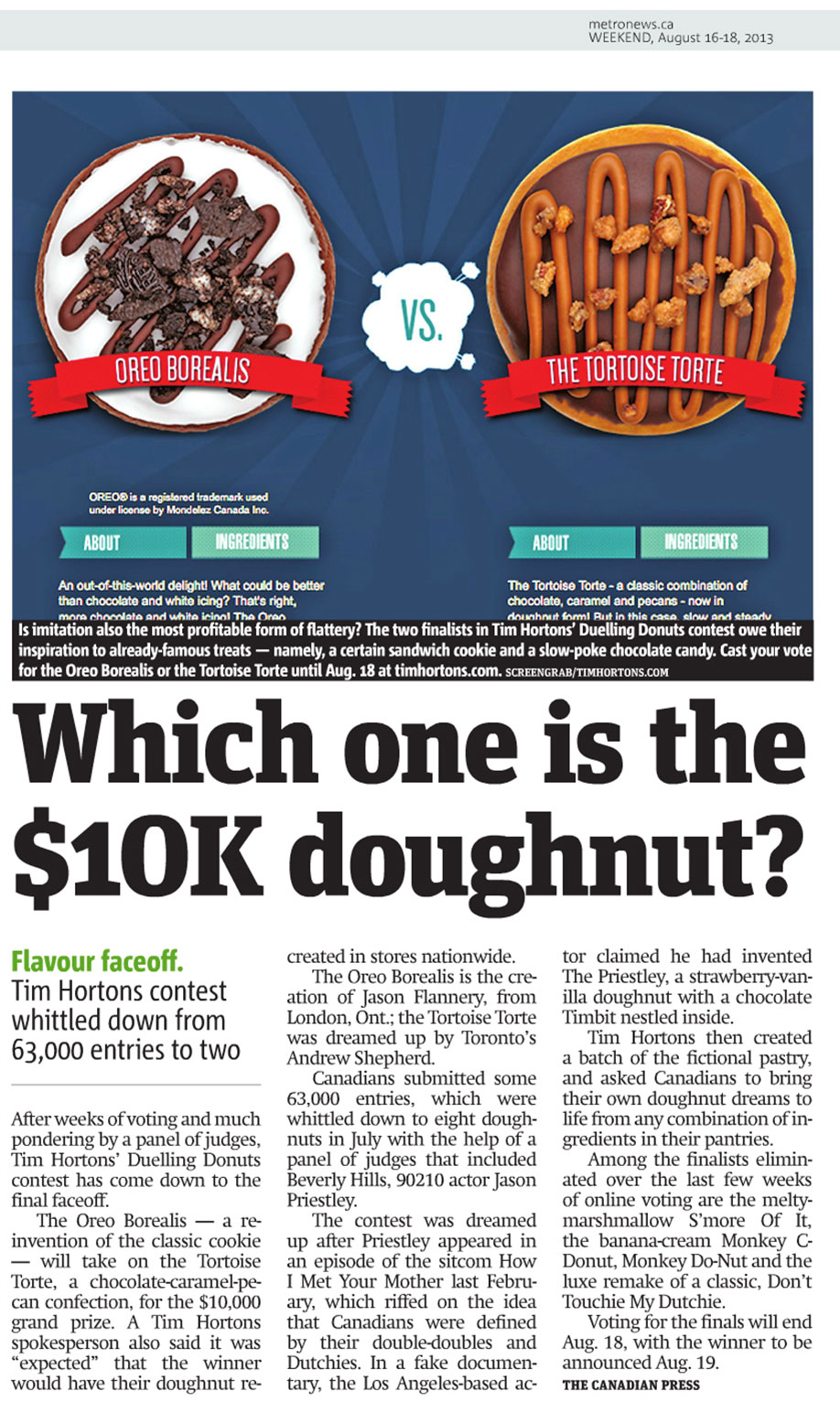 Tim Hortons Duelling Donuts